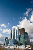 Many Scyscrapers Of Moscow City Under Blue Sky Royalty Free Stock Photo