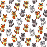 Many seal point kittens seamless pattern. Royalty Free Stock Image