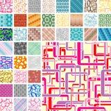 Many seamless patterns Royalty Free Stock Photo
