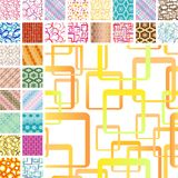 Many seamless patterns Stock Photography