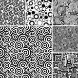 Many seamless patterns Royalty Free Stock Image