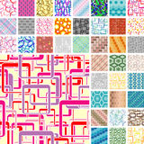 Many seamless patterns Royalty Free Stock Images
