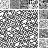 Many seamless patterns Royalty Free Stock Image