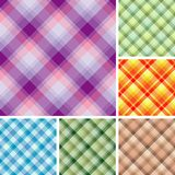 Many seamless plaid patterns Royalty Free Stock Photography