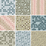Many seamless tile patterns royalty free illustration