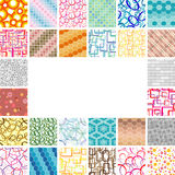 Many seamless wallpapers Royalty Free Stock Photo