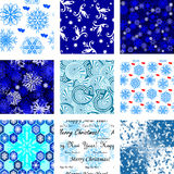 Many seamless winter wallpapers Royalty Free Stock Photos