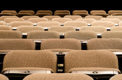 Many Seats. Image of numerous rows of empty seats Royalty Free Stock Photos