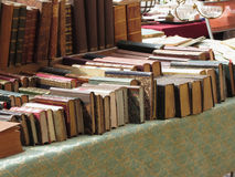 Many second hand books at antique market . Tuscany, Italy Royalty Free Stock Image