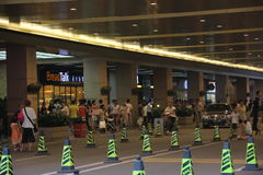 Many of the security barrier placed in the SHENZHEN street Royalty Free Stock Photography