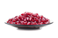 Many seeds with pomegranate Royalty Free Stock Image