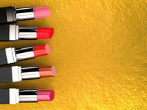 Many shades of lipsticks Stock Photography