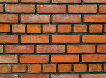 Many Shades of Orange Terracotta Bricks Wall, Background Royalty Free Stock Photography
