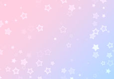 Many shapes of stars on gradient backgrounds Stock Photo