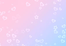 Many shapes of stars and hearts on gradient backgrounds Royalty Free Stock Image