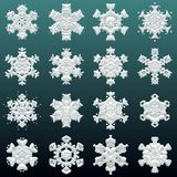 Many sharp snowflakes texture with different shapes. royalty free stock images
