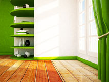 Many shelves in the room Royalty Free Stock Photography