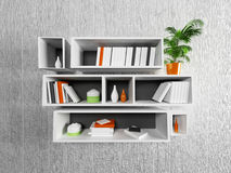 Many shelves on the wall Royalty Free Stock Image