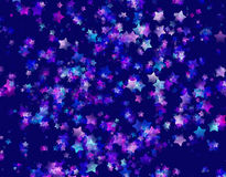 Many shining cold stars background Stock Photo