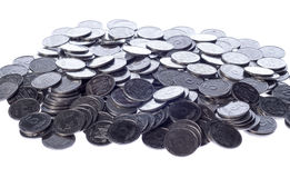 Many of shiny coins metal Royalty Free Stock Images