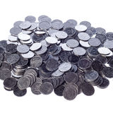 Many of shiny coins metal Royalty Free Stock Photo