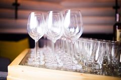 Empty glass for wine Royalty Free Stock Images