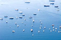 Many ships in a sea Royalty Free Stock Photos