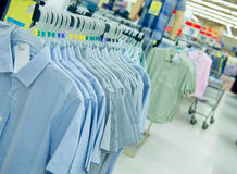 Many shirts in a clothing store Royalty Free Stock Image