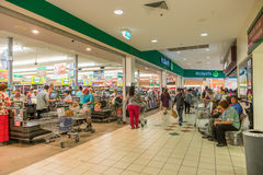 Many shoppers busy stocking up before Cyclone Debbie crosses the Stock Image