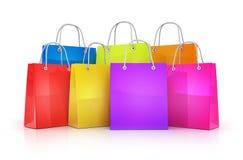Many shopping bag Stock Photo