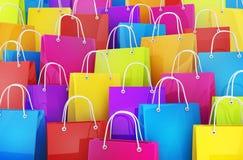 Many shopping bag Stock Photography