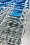 Many shopping carts in a row. Are waiting for using Stock Images