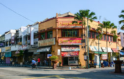 Many shops at Chinatown in Penang, Malaysia Royalty Free Stock Photography