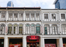 Many shops located at Chinatown in Singapore Royalty Free Stock Photo