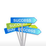 Success direction Royalty Free Stock Photo