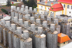 Many silos tower Stock Photos