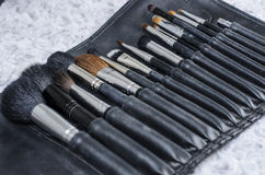 Many size of cosmetic brush for makeup artist Royalty Free Stock Photos