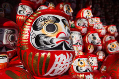 Many size daruma doll in Shelves Royalty Free Stock Photo