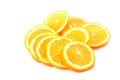 Many sliced oranges Royalty Free Stock Image