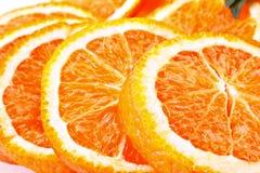 Many sliced oranges Stock Photography