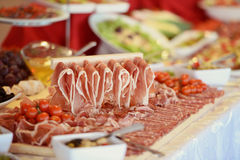 Many slices of ham Royalty Free Stock Photos