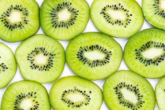Many slices of kiwi fruit Royalty Free Stock Photo
