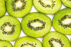 Many slices of kiwi fruit Stock Photo