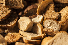 Many slices of stale bread. Royalty Free Stock Photography