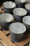 Many small buckets Stock Image