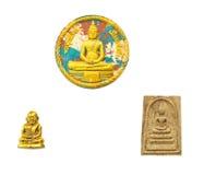 Many small buddha image used as amulets Royalty Free Stock Photography