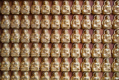 Many small Buddha statue Royalty Free Stock Photo