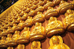 Many small Buddha statue Royalty Free Stock Images