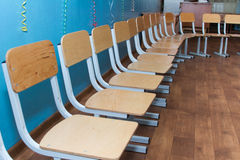 Many small chairs. Royalty Free Stock Images