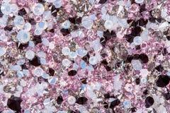 Many small diamond jewel stones, luxury background. High resolution photo Stock Images